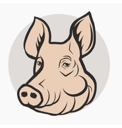 Pig Head Pork farm Logo vector image