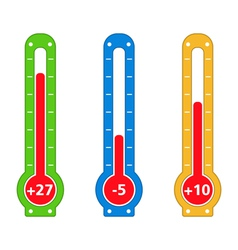 Simple Thermometers vector image