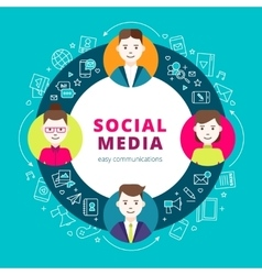 Social Media Group Of People vector image vector image