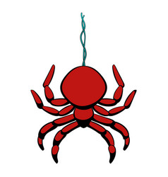 Spider icon cartoon vector