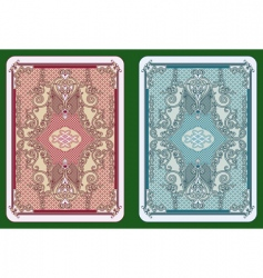 Playing cards design vector