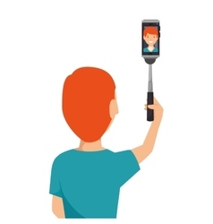 selfie photography technology icon vector image