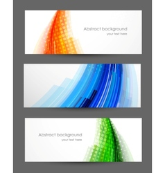Set of striped banners vector image vector image