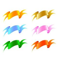 Silk ribbon set vector image vector image