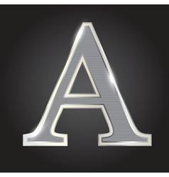 Silver metallic fonts vector image