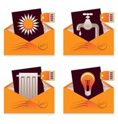 Utility Bills vector image vector image