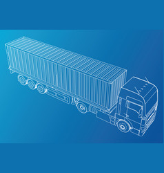 vehicle big cargo truck eps10 format vector image vector image