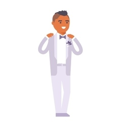 Wedding groom man isolated vector image