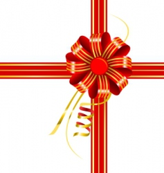 bow with ribbons vector image