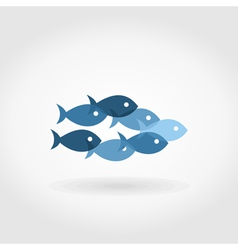 Flight of fishes5 vector image vector image