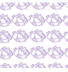 Pattern with stylized birds on white background vector image vector image