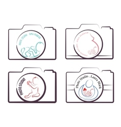 photography logo templates family children and vector image vector image
