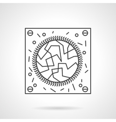 Virology research flat line design icon vector image vector image