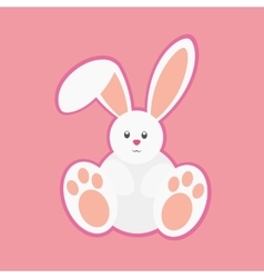 White easter rabbit vector image vector image