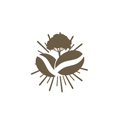 coffee nature abstract logo vector image vector image