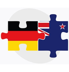Germany and New Zealand Flags vector image