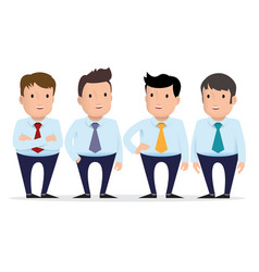 group of guys in different clothes vector image vector image