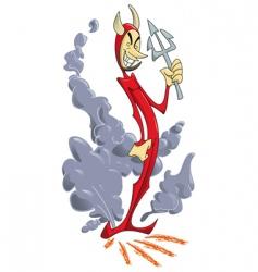 slim devil vector image vector image