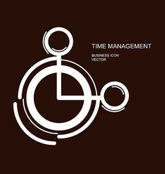 time management icon on brown vector image vector image