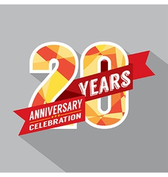 20th years anniversary celebration design vector
