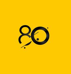 80 years anniversary celebration gradient yellow vector