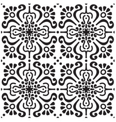 abstract flower retro pattern background im vector image