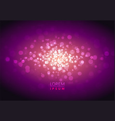 abstract mystic glitter sparkle bokeh background vector image