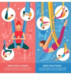 Aero Yoga Banner Set vector image