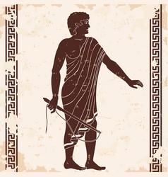 Ancient greek men vector