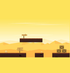 Background game with desert landscape vector
