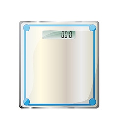 bathroom digital scale vector image