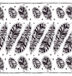 birds feathers boho seamless pattern vector image