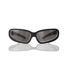 black sunglasses to protect from the sun vector image