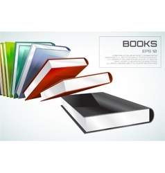 book 3d isolated on white vector image