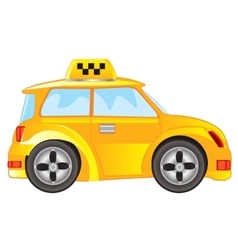 Car taxi on white background vector image