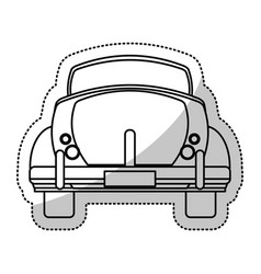 Car vintage transport outline vector