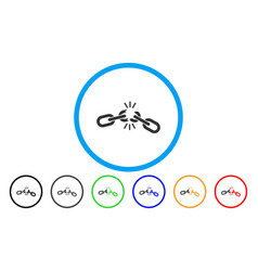 Chain damage rounded icon vector