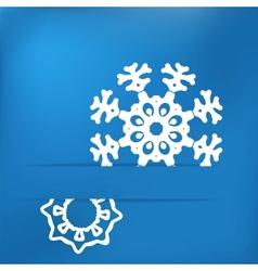 Christmas snowflake on blue EPS8 vector image