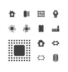 Circuit icons vector