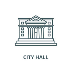 city hall line icon linear concept vector image