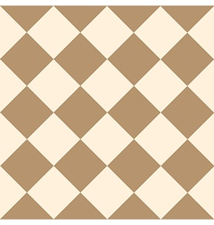 Coffee brown cream chess board diamond vector