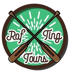 Color vintage rafting emblem vector image