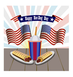 concept of national hot dog day vector image