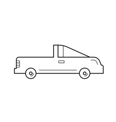 Coupe car line icon vector