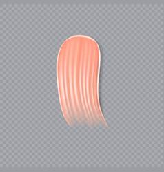 Cream scrub or concealer smear swatch vector
