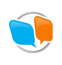 Creative colorful dialog balloons bubble speech vector