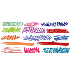 different marks in different colors vector image