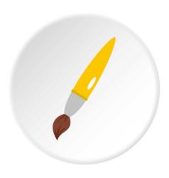 Drawing brush icon circle vector