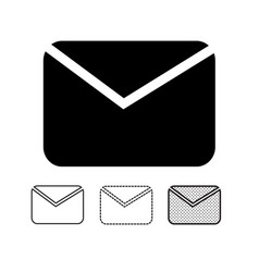 email mail icon vector image