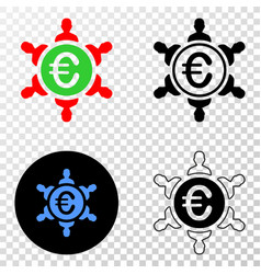 euro people union eps icon with contour vector image